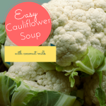 easy cauliflower soup with coconut milk