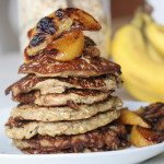 simple banana oat pancakes