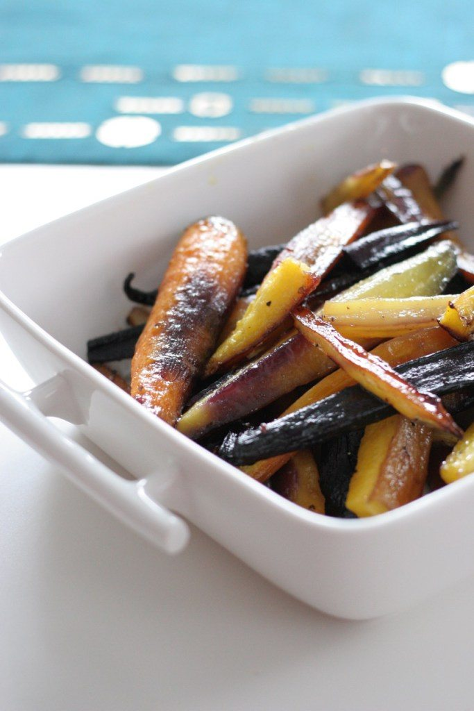 Sweet and Salty Roasted Heirloom Carrots
