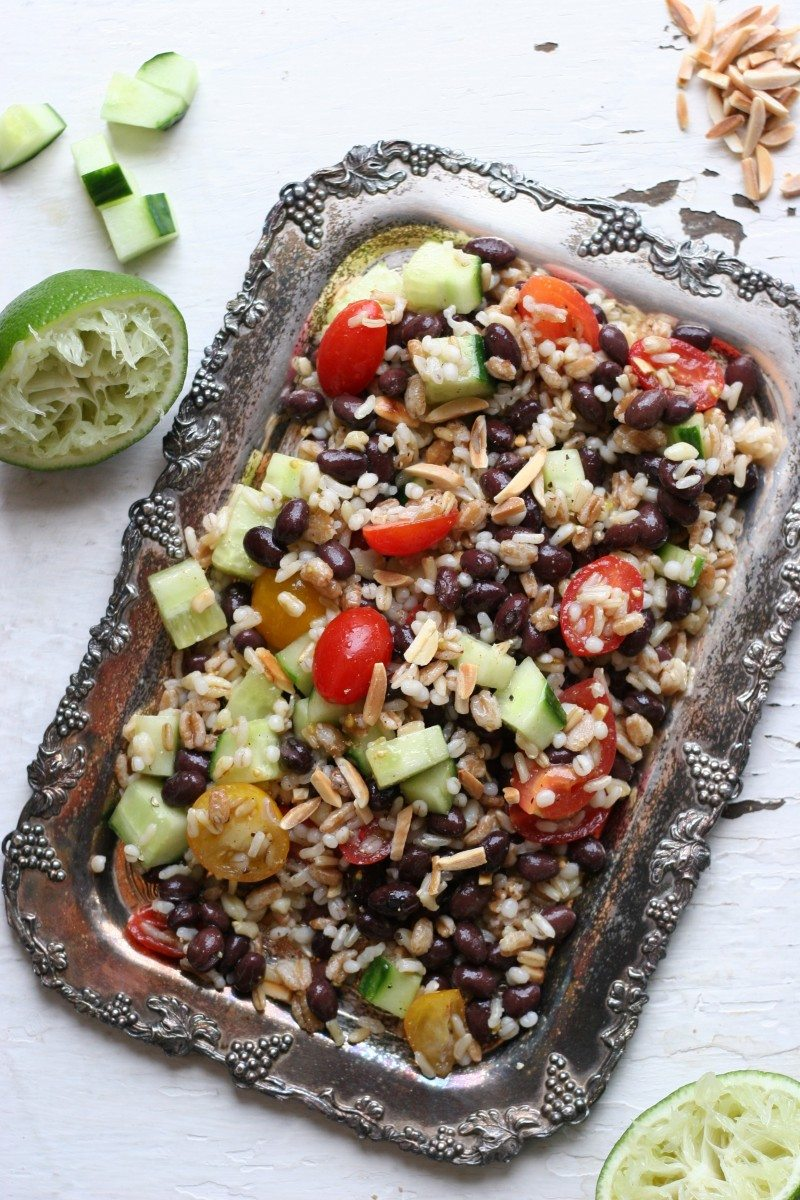 moroccan-spiced black bean salad