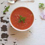 easy watermelon gazpacho with mint