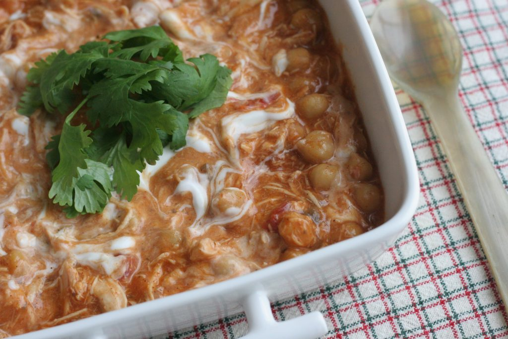 slow cooker chicken with chickpeas