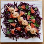 Purple Cabbage, Grapefruit and Mint Salad