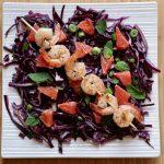 Purple Cabbage, Grapefruit and Mint Salad