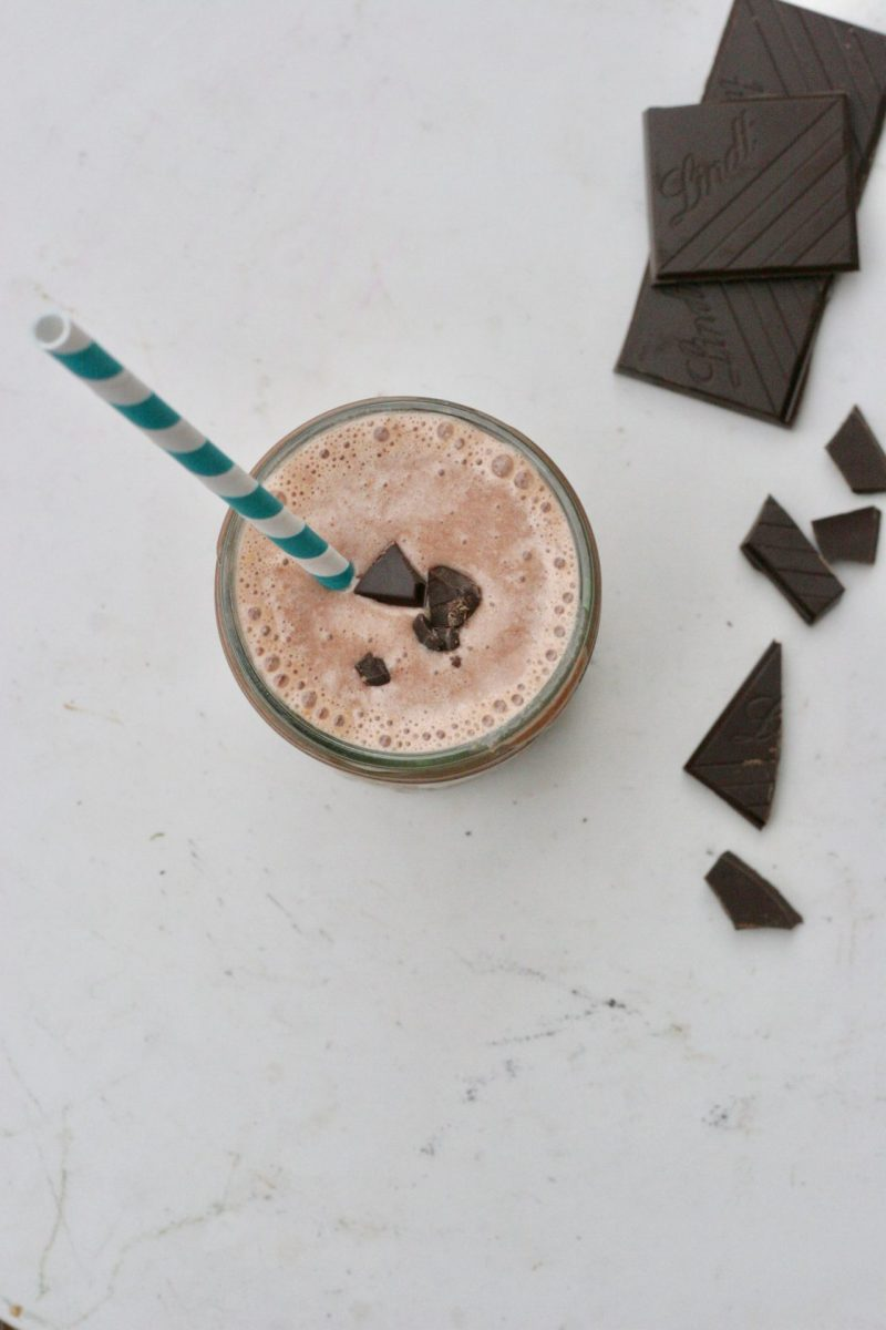 simple chocolate peanut butter smoothie