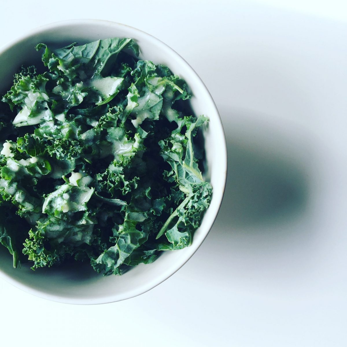 Simple Kale Salad with Green Goddess Dressing