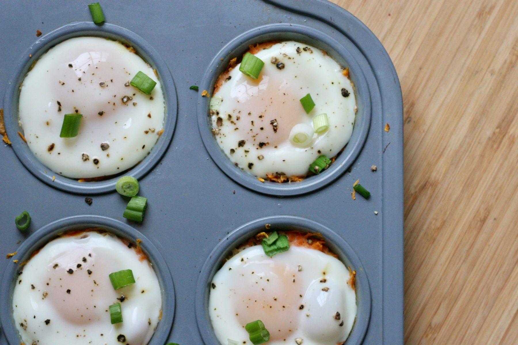 Simple Sweet Potato Egg Stacks