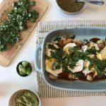 black bean enchiladas with eggs