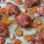simple sticky chicken thighs
