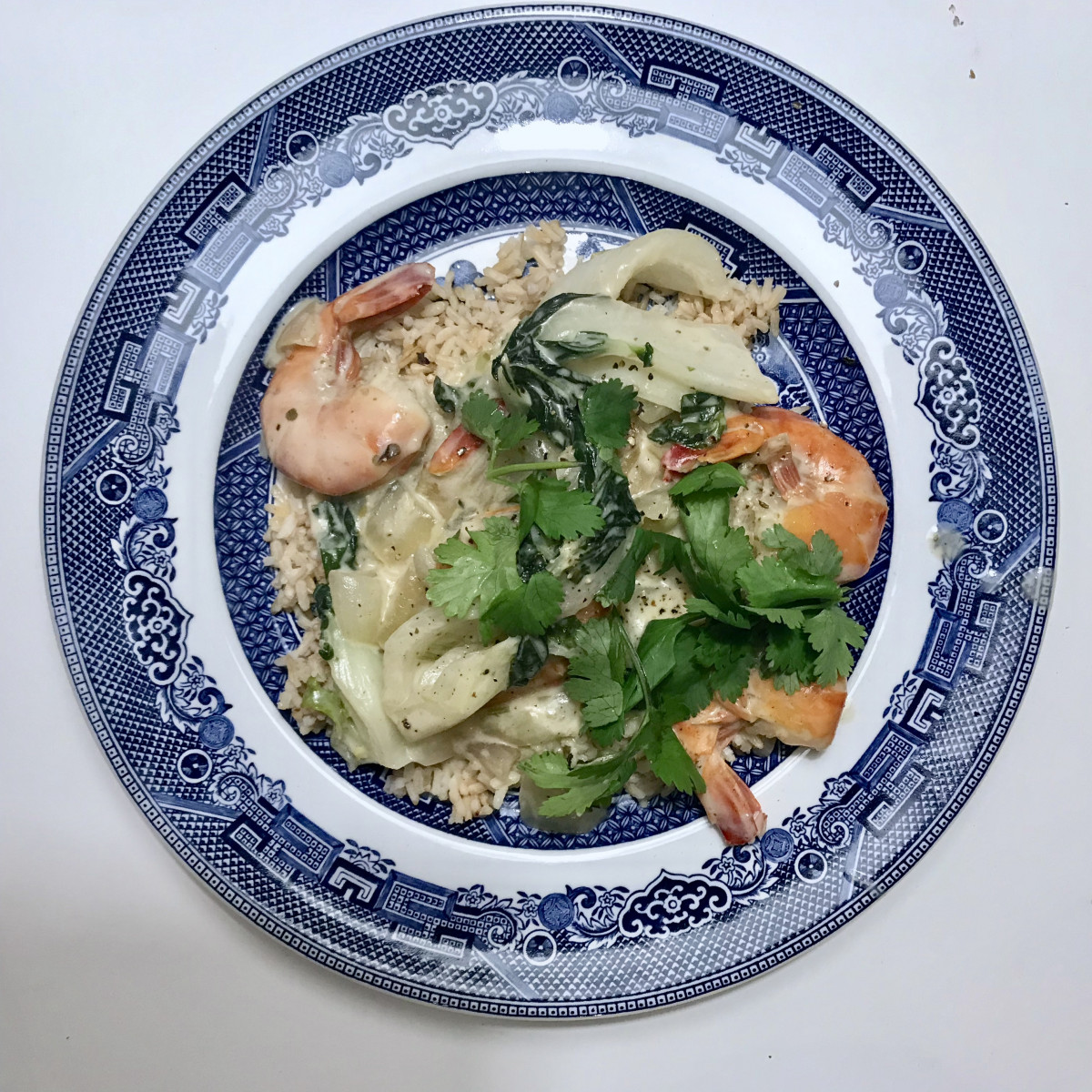 simple green curry with shrimp