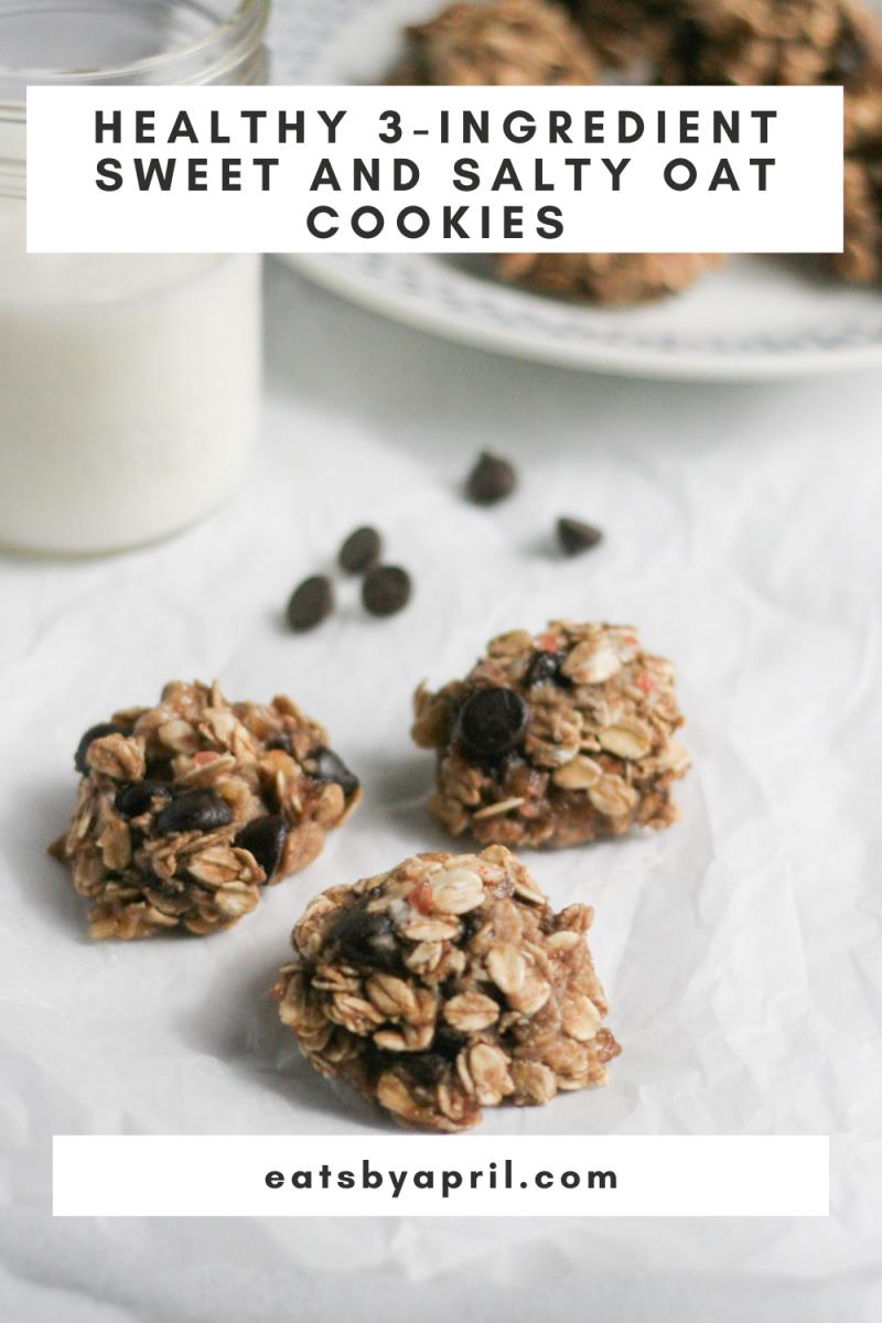 3 ingredient sweet and salty oat cookies