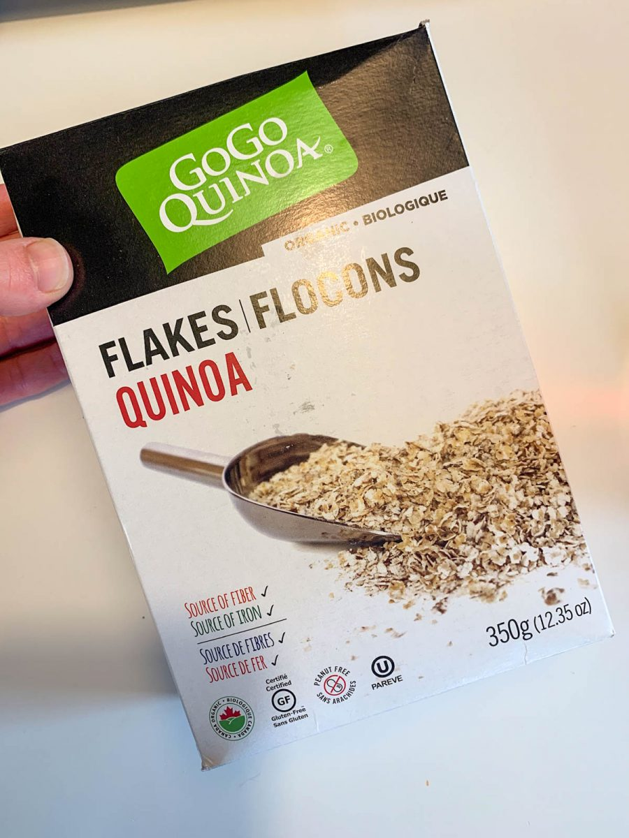 A box of Quinoa Flakes