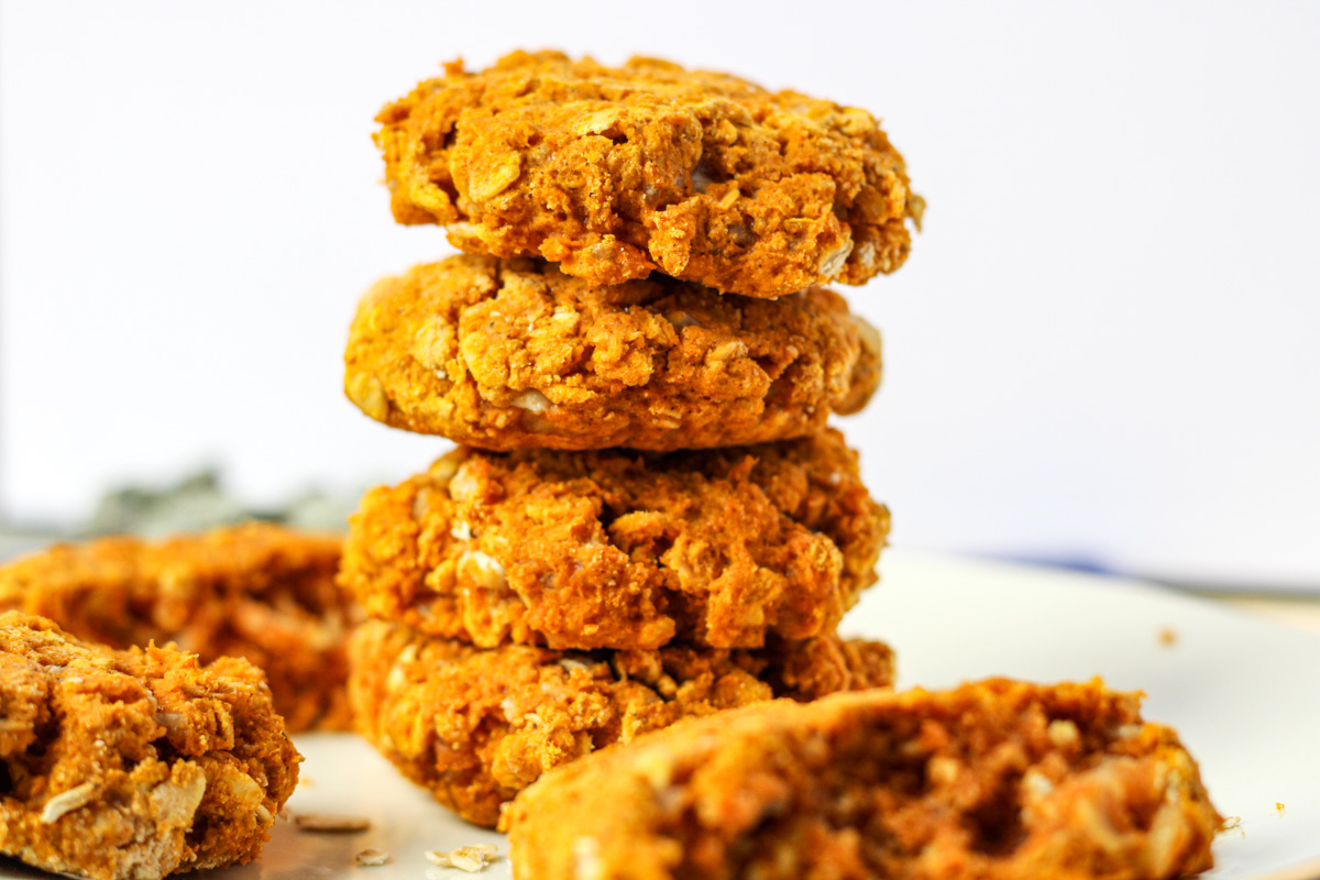 A stack of gluten-free pumpkin scones