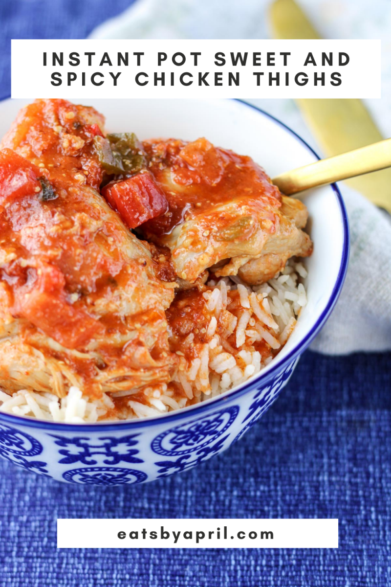 Instant Pot Sweet and Spicy Chicken Thighs